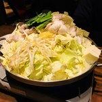 76581371 - 京白味噌の豆乳モツ鍋 ¥2,600