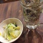 づめかん - 白菜のおひたしと4杯目のハイボール(^∇^)