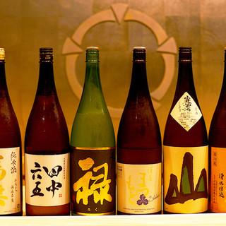 【品揃え豊富な日本酒】