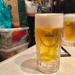 焼肉 やまだ - 生ビール(21:00まで半額!!!)