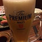木村屋本店 - 生ビール 中