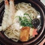 ふわわ - 海老天鍋焼きうどん1393円