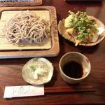 もとき - 料理写真:十割生粉打ちもり蕎麦と野菜天ぷら。