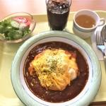 カフェサミー - 171104土 埼玉 カフェサミー オムハヤシ780円