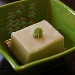 うなぎ亭 友栄 - 「ぴぃなっつ豆腐」、500円也