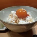 炭Kappo hirac - 卵黄の醤油漬けご飯