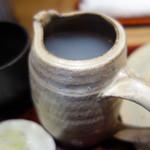 石挽きそば 蕎真 - 蕎麦湯