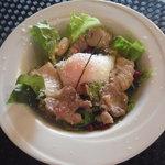 セルフィーユ - 温玉と塩豚のサラダ