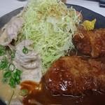 76600773 - ポーク味噌&ヒレカツ定食♪