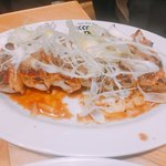 76602083 - にんにく醤油、白髪葱と炙りチーズの飾り餃子