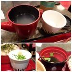 華元 - *蕎麦湯・お吸い物など。