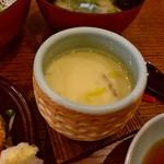 とびっちょ - 【2017.11.18(土)】しらすづくし御膳1,350円の茶碗蒸し