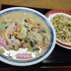 宝楽 - 料理写真:ちゃんぽん&たかなチャーハンセット@800