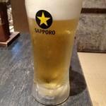 もつ福 - 生ビール