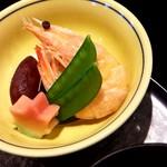 京寿し - 豆、茹で海老、えんどう豆、かざり餅