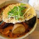カイエン オルタナ - 料理写真:チキンベジタブルスープカリー(1180円)+揚げブロッコリー