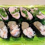どんぐり - かにみそトロ寿司 650円