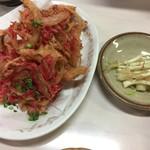 道頓堀 - 紅生姜の天ぷら&島らっきょう