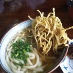 忠太郎茶屋 - ゴボ天うどん400円