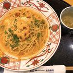 五右衛門 - 海老とモッツァレラのトマトクリーム♡
