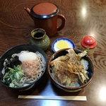 やぶ金 - 料理写真:おろしそばとミニ天丼セット