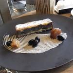 ザ ラウンジ&バー - 黒豆と栗のケーキ