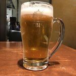 76617256 - 生ビールセットをジョキに変更 500ml ひとくち飲んじゃったあと