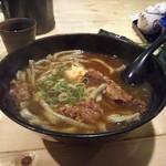 さきちゃんうどん - 料理写真:肉よもぎうどん(ノ´∀`*)