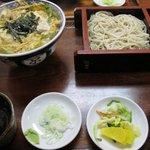 更科 京屋 - 親子丼+ミニそばセット ¥1000-