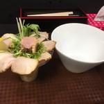 麺匠 さくら咲く - 肉パフェまぜそば900円