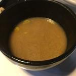 麺屋 一真道 - スープ割り