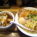 Gochoumeniboshi - 煮干しそば味玉入&チャーシューご飯