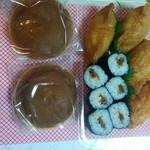 金太郎寿し - サービスのどら焼きといなり寿司とかんぴょう巻き