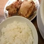ニュー オールド スタイル 肉そば けいすけ - 唐揚げ半ライスセット