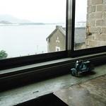 アサカフェ - 窓の外には洞海湾。