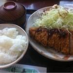とんかつの竹亭 - とんかつ定食 800円