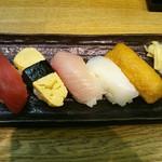 寿司丸忠 - Cセット553円(税別)ここに茶碗蒸し・赤だしが付きます。
