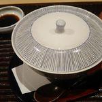 寿司・日本料理 さわ田 - 柚子皮器の茶碗蒸し 2017年11月