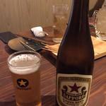焼鳥 赫色 - サッポロ赤星(中瓶)580円