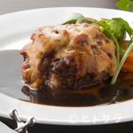 赤かぶや - 和牛あらびきハンバーグ ラタトゥイユ・チーズ焼き