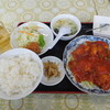 本場四川料理 萬福飯店 - 料理写真:エビチリソース定食¥780+税