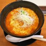 Mr.タンタンメン - 料理写真:Mr.タンタンメン・ピリ辛(640円)+白髪ネギ(100円)
