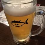 地魚屋台とっつぁん - 生ビール