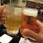 辻庵 - 生ビールと緑茶で乾杯!