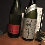 富小路 うろこ - 純米吟醸比較   山和 pulitoと篠峯 中取り 生原酒