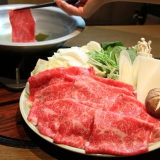 【数量限定特選すきやき】手切りの技で頂く最高級黒毛和牛の味
