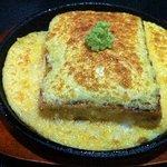 傾奇者 - 豆腐のとろろ鉄板焼 480円