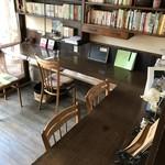 自家焙煎コーヒーcafe・すいらて - 1FL字型カウンター席風景(2017.11.19)