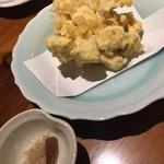 玄蕎麦 路庵 - 栗のかき揚げ