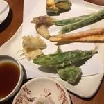 玄蕎麦 路庵 - 季節野菜の天ぷら
